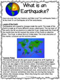 Earthquake Bundle Lesson plans, activities, worksheets by ...