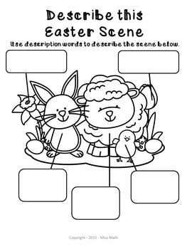 Easter Activities No Prep Packet (Grades 1-3) by Miss Math