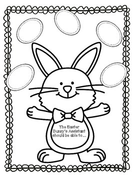 Easter Bunny Assistant-Opinion Writing Activity by Tracy