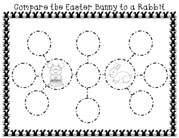 Easter Bunny Craftivity with Graphic Organizers and Poem
