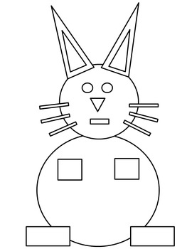 Easter Bunny Geometric 2D Shape Rabbit by Christine