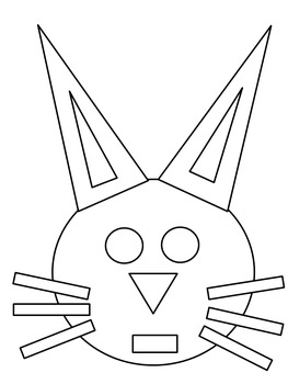 Easter Bunny Geometric 2D Shape Rabbit by Christine