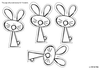 Spring and Easter Cut Paste Trace Writing Worksheets by
