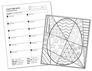 Coloring Activity Template: Easter Egg (Personal Use Only