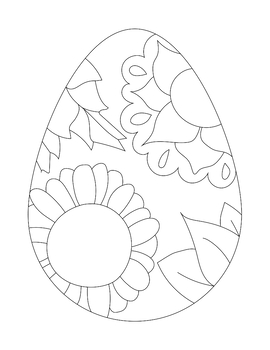 Easter Egg Coloring Pages Worksheets Teaching Resources Tpt