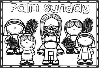 Easter Holy Week Coloring Pages: Bible Theme by Ponder and
