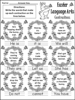 Easter Worksheet Activities: Easter Language Arts Activity