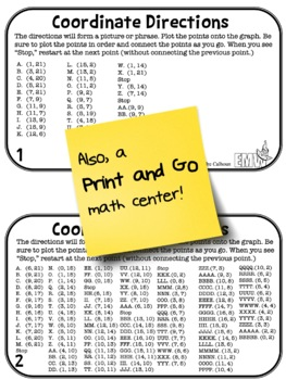 Easter Math Activity Coordinate Drawing Task Cards by Evil