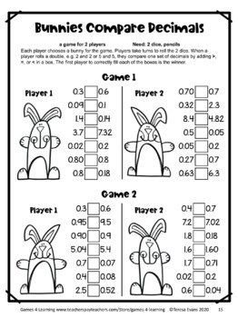 Easter Activities: Easter Math Games Fourth Grade by Games