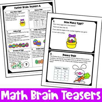 Easter Activities: Easter Math Games, Puzzles and Brain