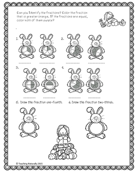 Easter Math and Literacy Printable Worksheets (2nd/3rd