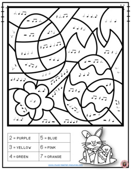 Easter Music: 26 Easter Music Colouring Pages by