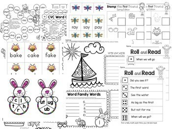 Spring Phonics Worksheets and Games for Fluency and