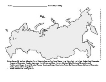 Eastern Europe Russia map assignment Western cultures