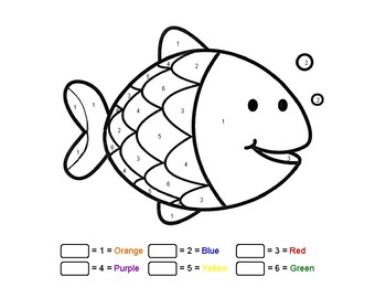 Easy Color by Numbers Art Fish Printable Learn Numbers and