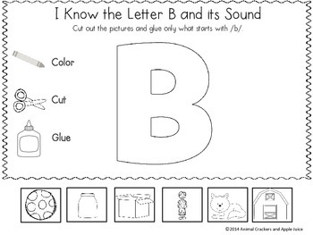 Easy, Peasy Printables: I know Letter Sounds Color, Cut