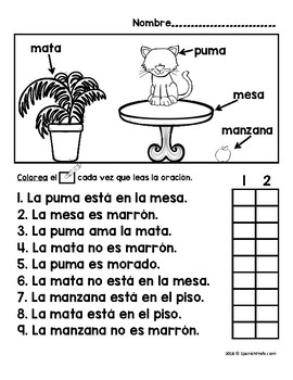 Easy Reader pages in Spanish (Lectura facil en español) by