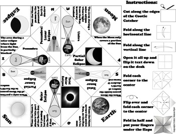 Solar and Lunar Eclipses Activity (Space Science