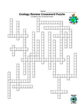 Ecology Review Crossword Puzzle and Word Search by