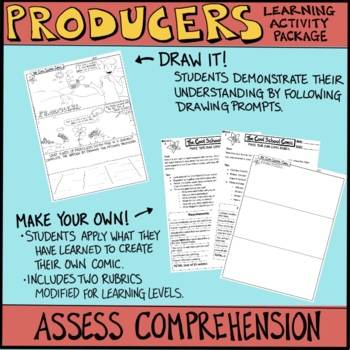 Ecosystems: Producers Comic with Doodle Notes by Cool