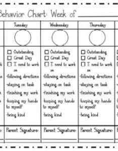 Editable behavior chart also by it   kinder time teachers pay rh teacherspayteachers