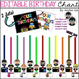 Editable Birthday Chart Teaching Resources