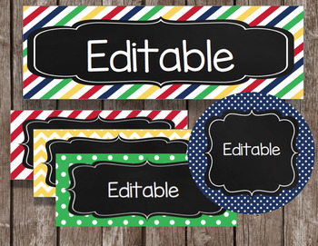 editable chalkboard tags labels