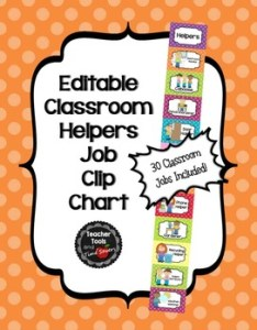 Job chart classroom helpers editable cute polka dots also tpt rh teacherspayteachers