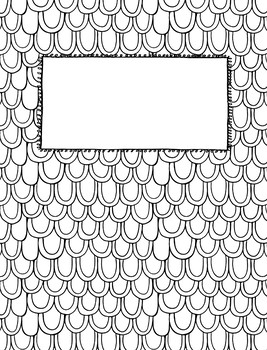 Editable Coloring Page Binder Covers by Musings from the