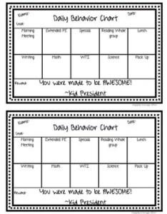 Editable daily behavior chart also for kids teaching resources teachers pay rh teacherspayteachers