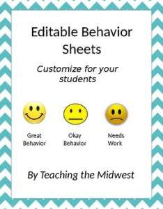 also editable emotion face behavior charts by teaching the midwest tpt rh teacherspayteachers