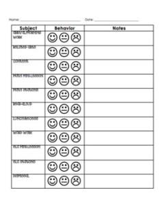 also editable inidual behavior chart by ashley lorko tpt rh teacherspayteachers