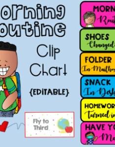Editable morning routine clip chart and desk plates also tpt rh teacherspayteachers
