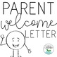 Editable Back to School Parent Welcome Letter by Sarah