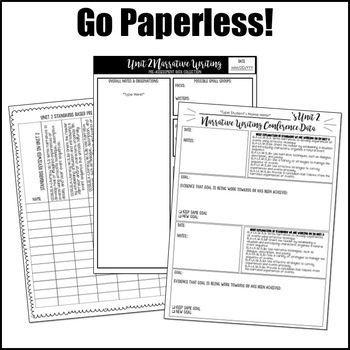 Editable Writing Forms {Narrative Writing-Unit 2-5th Grade