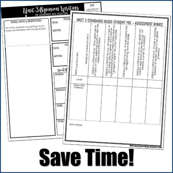 Editable Writing Forms {Opinion Writing-Unit 3-4th Grade