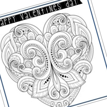 Valentine's Day Craft Zen Cards by The Counseling Teacher