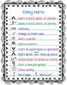 Editing marks freebie also by  learning affair teachers pay rh teacherspayteachers