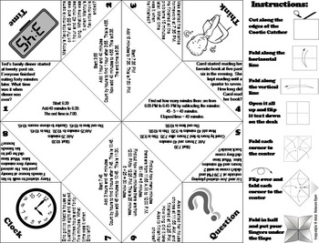 Elapsed Time Word Problems Game 3rd 4th 5th Grade by