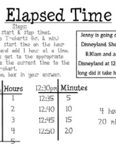 Elapsed time poster also posters teaching resources teachers pay rh teacherspayteachers