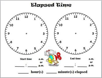 Elapsed Time dry erasable template by The Bright Pineapple