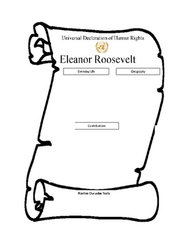 Eleanor Roosevelt Graphic Organizer and Rubric by Literacy