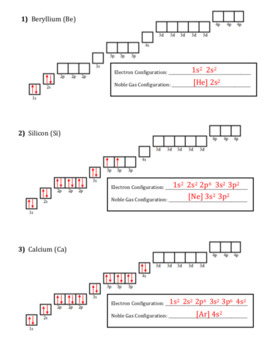 Electron Configuration and Orbital Diagrams Worksheet by