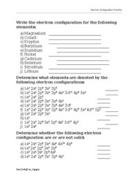 Electron Configurations Practice Worksheet by Chemistrying ...