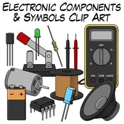 This picture showcases the various different parts and tools that are required to create electronics!