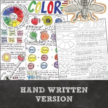 Element of Art (Color) Worksheet: Middle School, High