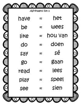 Elementary Afrikaans 1 (18 week beginner curriculum) by