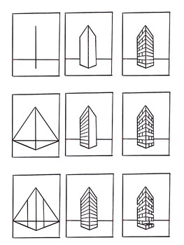 Elementary & Middle Art Lesson Plan. Two point perspective