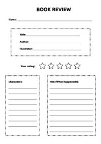 Elementary Book Review Worksheet by Leah the Librarian | TpT