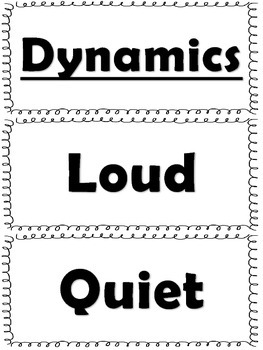 Elementary Music Word Wall-Tempo and Dynamics by Forte